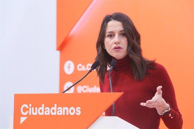 28A.- Arrimadas es elegida como cabeza de lista de Cs al Congreso por Barcelona