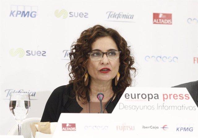 Desayuno Informativo de Europa Press con María Jesús Montero