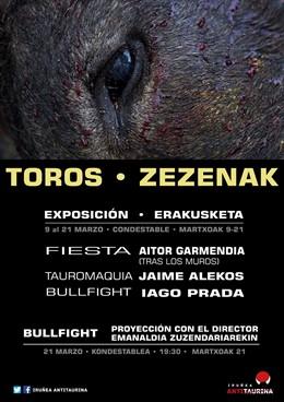 Iruñea Antitaurina inaugura la exposición 'Toros/Zezenak' para reflexionar sobre