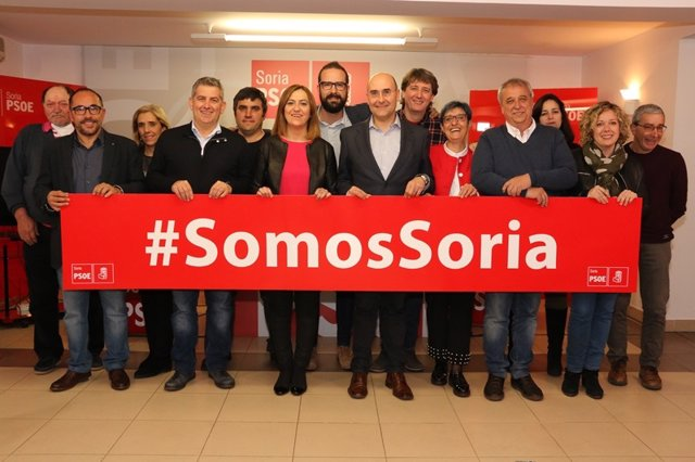 El PSOE de Soria elige a Javier Antón, Jesús Manuel Alonso y Virginia Barcones p