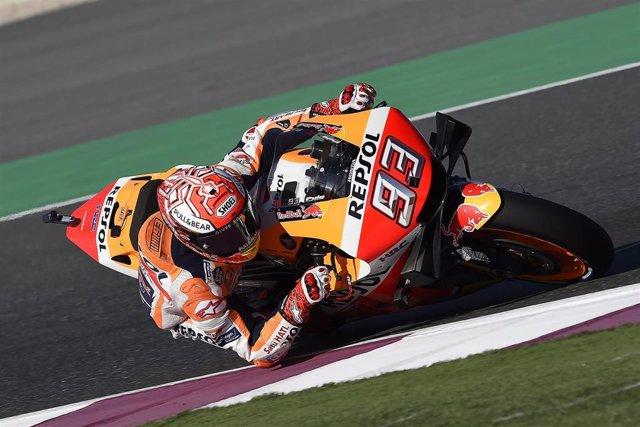 """Motociclismo/GP Catar.- Marc Márquez: """"Si mañana hace el mismo tiempo, tendremos"""