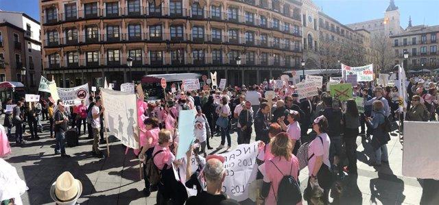 Cientos de personas piden en Toledo la suspensión de licencias de macrogranjas t