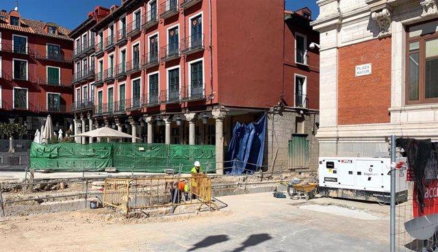 """Puente afirma que la obra de la Plaza Mayor va """"más avanzada de lo que parece"""" y"""