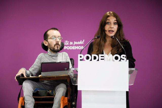 Roda de premsa de Podem