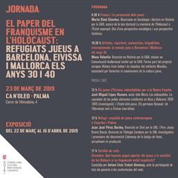 El Govern inaugurarà el divendres l'exposició 'Jueus refugiats a Balears'