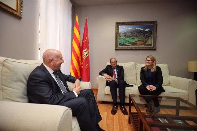 AMP.- Torra ratifica l'acord de finanament d'Aran (Lleida) per als propers zinc