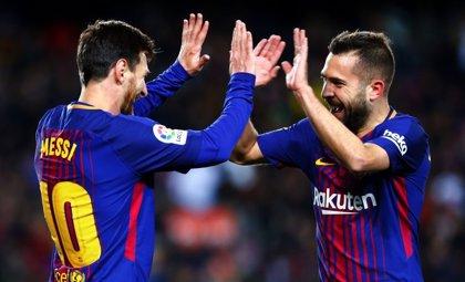 """Jordi Alba: """"Ojalá Messi se quede el tiempo que esté yo"""""""