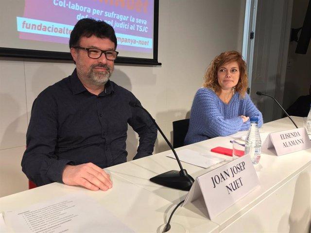Els diputats de CatECP Joan Josep Nuet i Elisenda Alamany