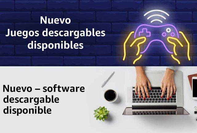 Amazon comena a vendre en Espanya 'programari' i videojocs en format digital