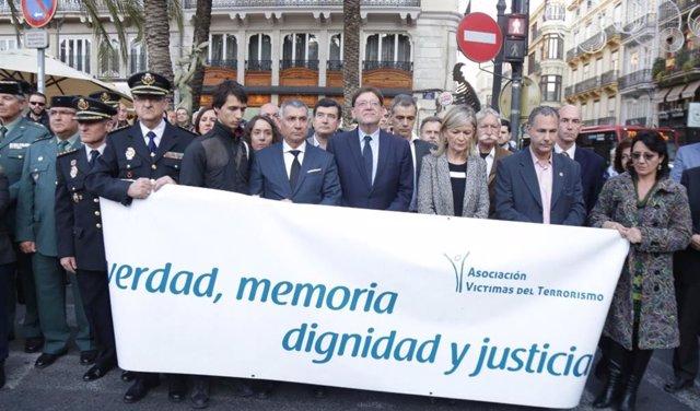 Valencia.- Políticos y sociedad civil homenajean a víctimas del terrorismo y pid