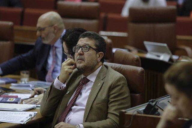 Sesión de control al gobierno en el Pleno del Parlamento andaluz
