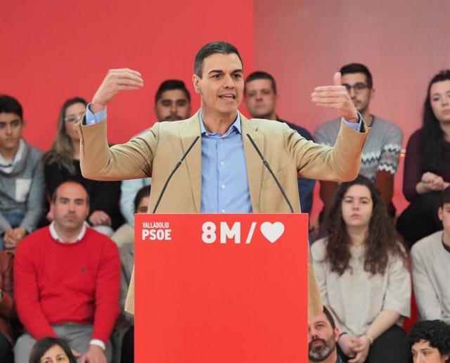 """AMP.- Sánchez reivindica la España del 8M, """"el hoy y el mañana del país"""", frente"""