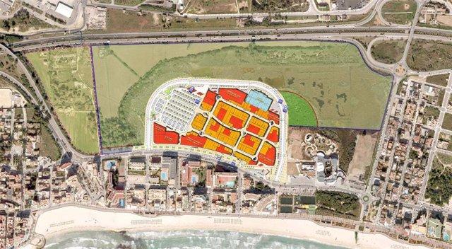 Imagen de la futura implantación del centro de Ses Fontanelles