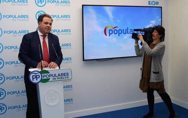 """Huelva.- El PP reivindica un 15M """"sin partidismos ni personalismos"""" para exigir"""