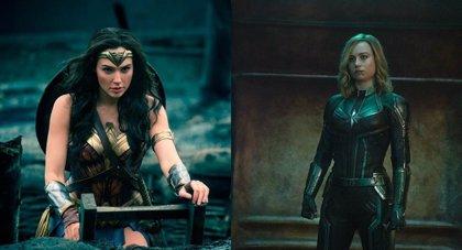 Wonder Woman (Gal Gadot) celebra el taquillazo de Capitana Marvel (Brie Larson)