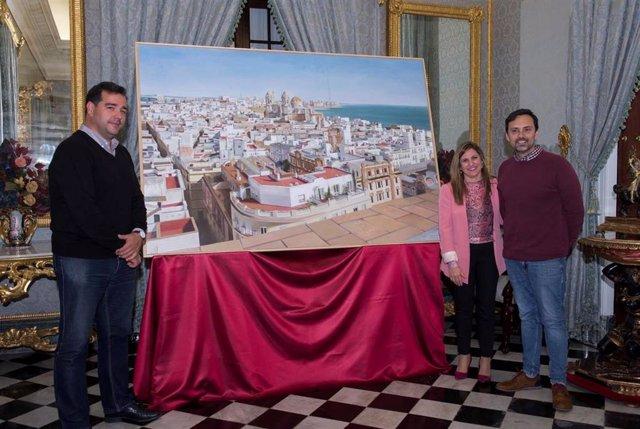 CádizAlDía.- Una panorámica de la ciudad de Cádiz, de Fernando Devesa, ilustra l