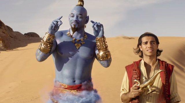 Aladdin: El Genio de Will Smith fabrica un príncipe en el nuevo y alucinante trá
