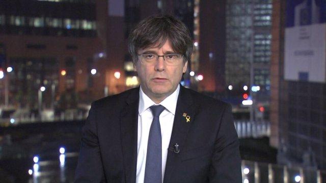 El expresidente de la Generalitat Carles Puigdemont