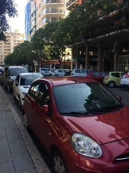 Coches aparcados en Palma
