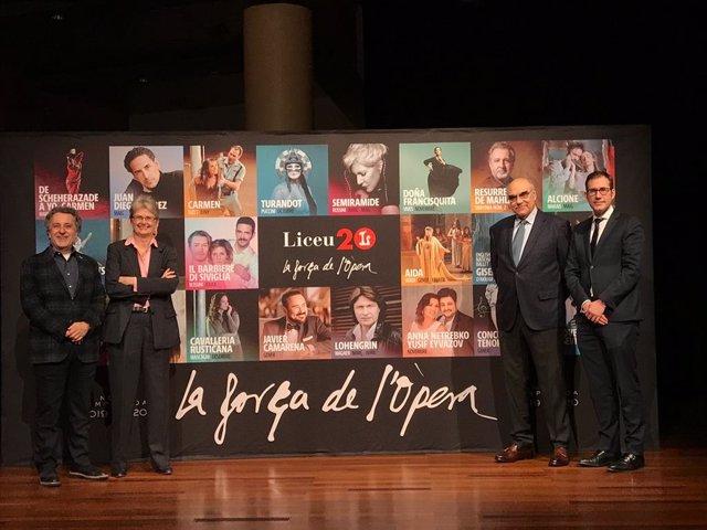 Av.- El Liceu tindrà en el seu 20 aniversari a Franc Aleu, Lluís Pasqual, Jordi