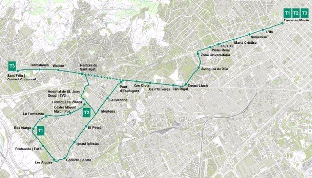 Ampliación de tram entre Esplugues de Llobregat y Sant Just Desvern