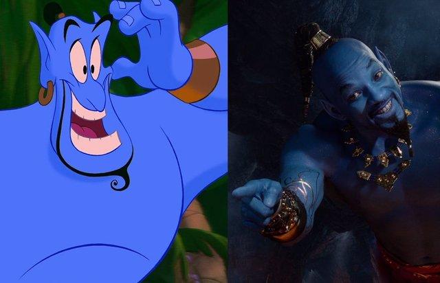 Aladdin: Genial homenaje de Will Smith al Genio de Robin Williams