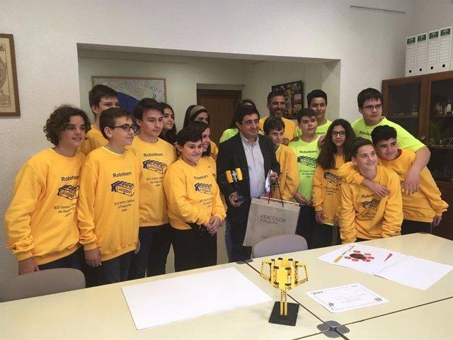 Jaén.- MásJaén.- Diputación colaborará con el equipo de robótica del IES Santa C
