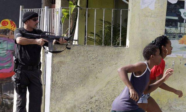 Tiroteo en las favelas de Río de Janeiro