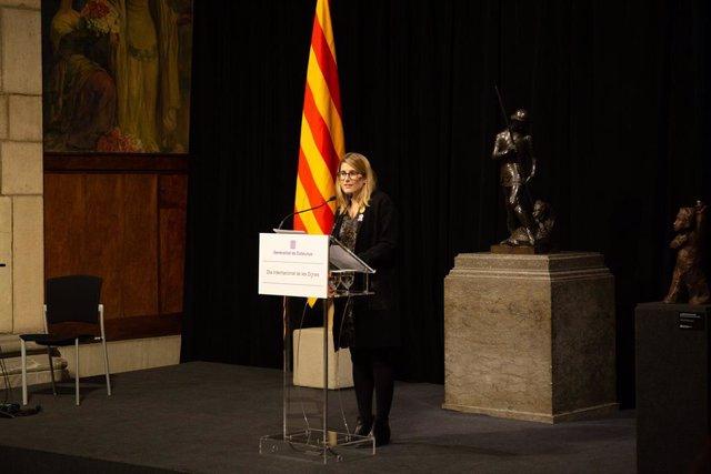 La consellera de la Generalitat catalana Elsa Artadi encapala el Dia Internacio