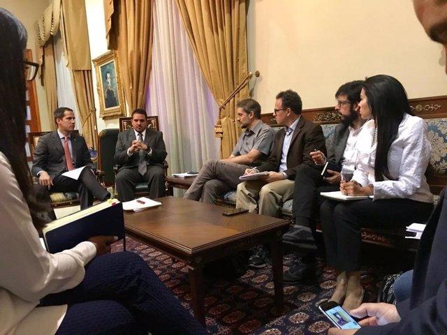 Venezuela.- Guaidó se reúne con los emisarios de Bachelet para abordar la crisis