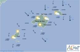 Predicción meteorológica para este jueves 14 de marzo en Baleares: intervalos nu