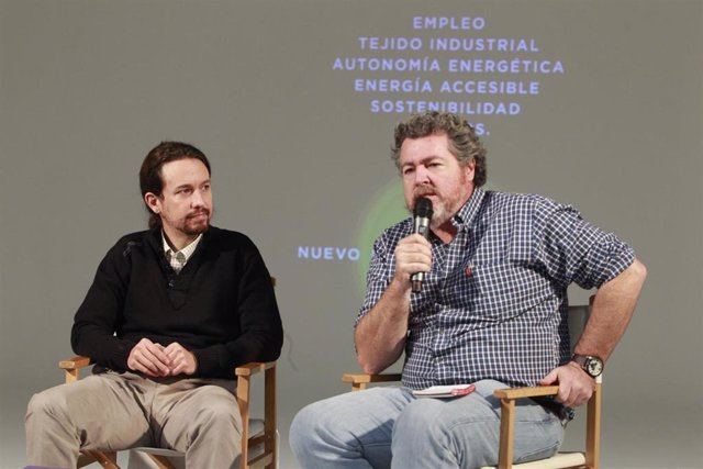 Pablo Iglesias y Juantxo López Uralde