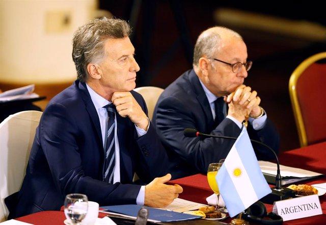 Argentina's President Mauricio Macri participates in a Mercosur trade bloc summi