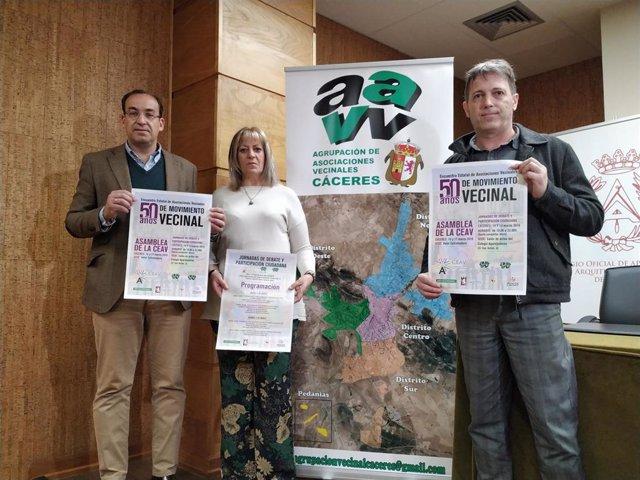 Cáceres reúne a asociaciones vecinales de toda España para hablar de ferrocarril