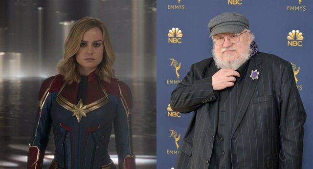 """George R.R. Martin, loco con Capitana Marvel: """"Se come a Iron Man... Y de postre"""