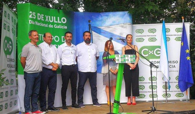 Acto de homenaxe ao nacionalismo de Compromiso por Galicia no Día dá Patria.