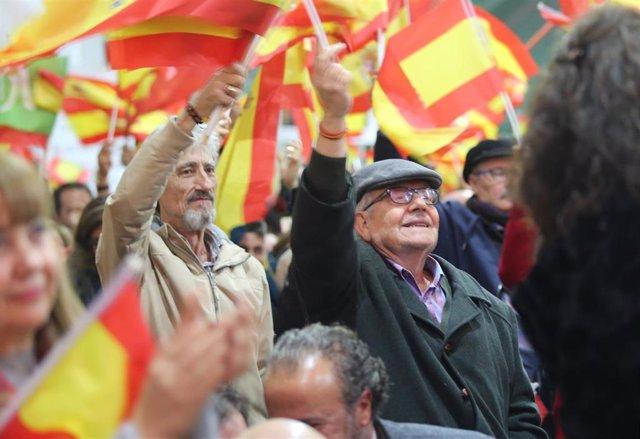 En Sevilla, mitin de cierre de campaña de VOX con la participación de su preside