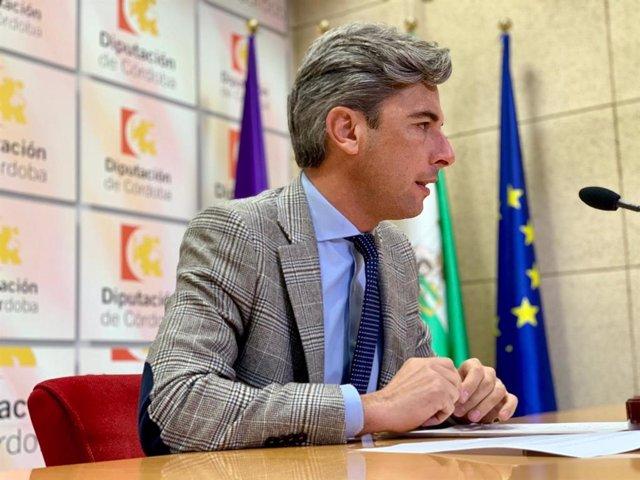 Andrés Lorite en la sala de prensa de la Diputación