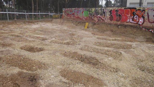 Los trabajos de arqueología en la zona del colegio Torre Monreal no afectarán a