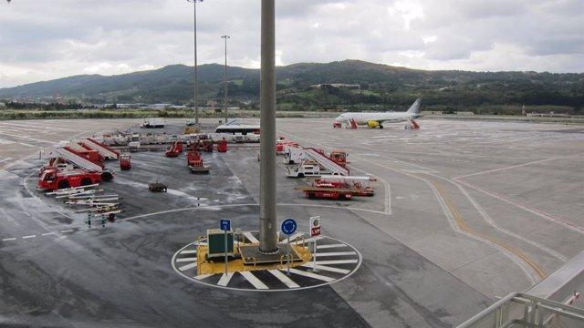 El viento obliga a desviar tres vuelos con destino al aeropuerto de Loiu (Vizcay