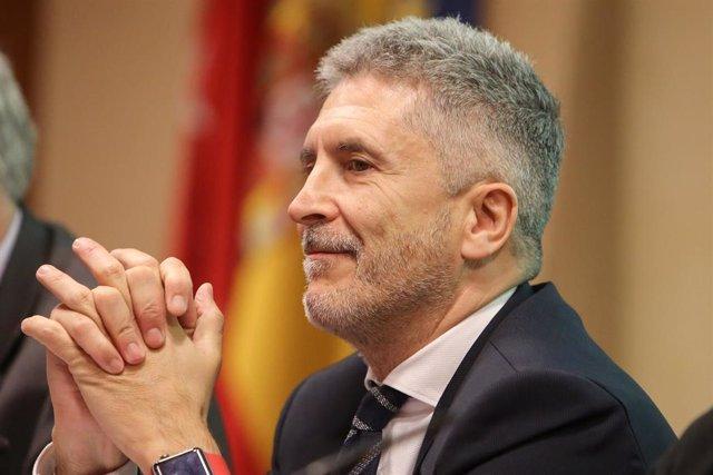 Fernando Grande-Marlaska, en la presentación del libro 'Heridos y olvidados: los