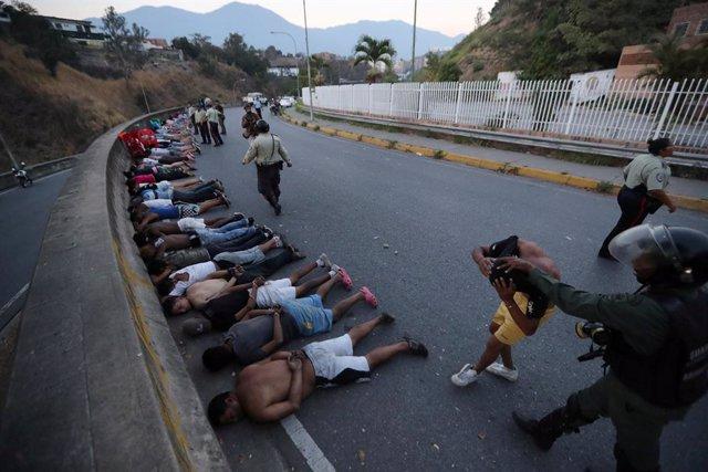 Venezuela.- ONG cifran en cinco muertos y más de 300 detenidos las víctimas por