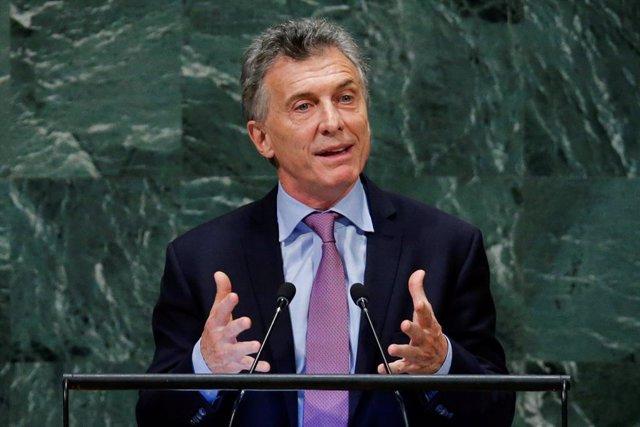 Mauricio Macri ante la Asamblea de la ONU en Nueva York
