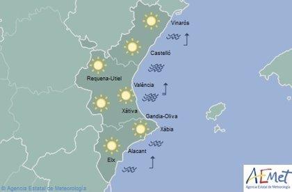 Cielos despejados y temperaturas en ascenso de hasta 23 grados, este viernes en la Comunitat