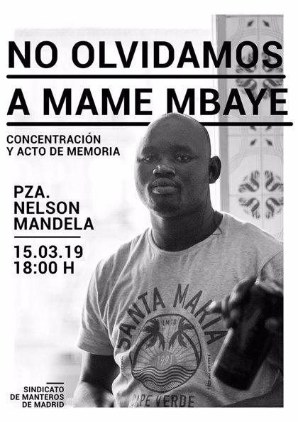 El Sindicato de Manteros convoca concentración en recuerdo de Mame Mbaye un año después de su muerte