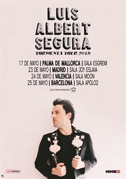 Luis Albert Segura presentará su nuevo proyecto en Mallorca, Madrid, Valencia y