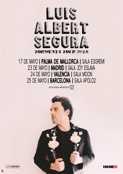 Luis Albert Segura presentará su nuevo proyecto en Mallorca, Madrid, Valencia y Barcelona