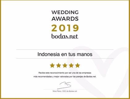 Viajes Indonesia en tus manos recibe un Wedding Award