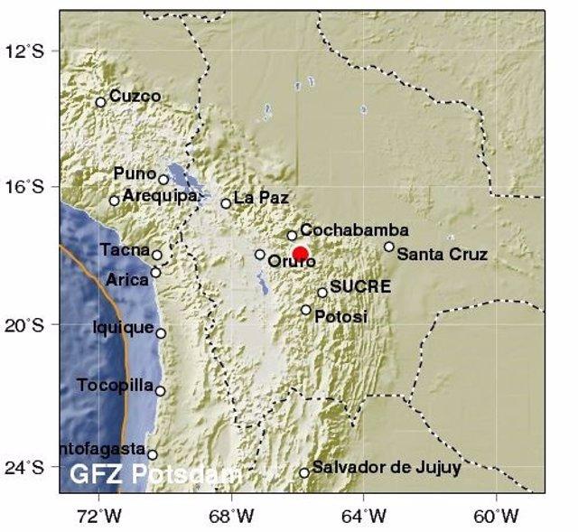 Un terremoto de 6,3 grados sacude a Bolivia