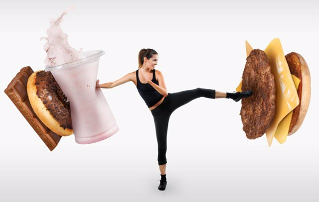 Dieta. Huir de las calorias. Hamburguesas. Dieta sana. Perder Kilos
